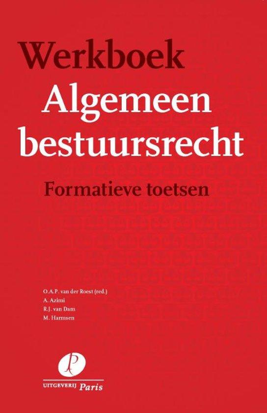 Boek cover Werkboek algemeen bestuursrecht van  (Onbekend)