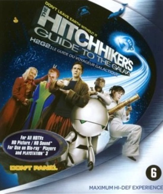 Cover van de film 'Hitchhiker's Guide To The Galaxy'