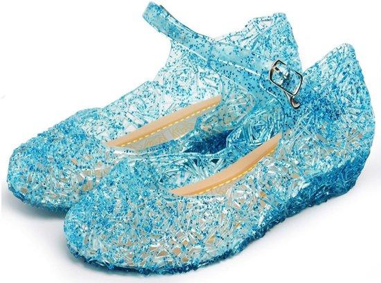 Prinsessen schoenen - Prinses Elsa - maat  35 (vallen 2 maten kleiner uit) - verkleedkleding