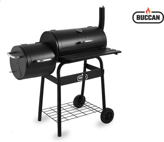 Bbq Bol Com.Buccan Bbq Bunbury Double Barrel Barbecue Dubbele Smoker Zwart
