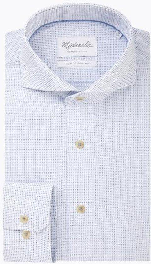 Zwart Overhemd Met Witte Stippen.Bol Com Wit Blauw Navy Geweven Stippen Overhemd 44