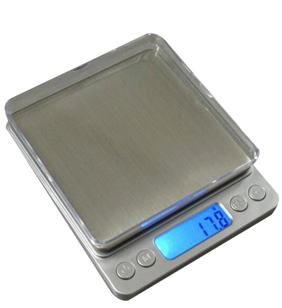 Keukenweegschaal Digitaal met Kom - RVS Precisie Weegschaal tot 2000g x 0.1g