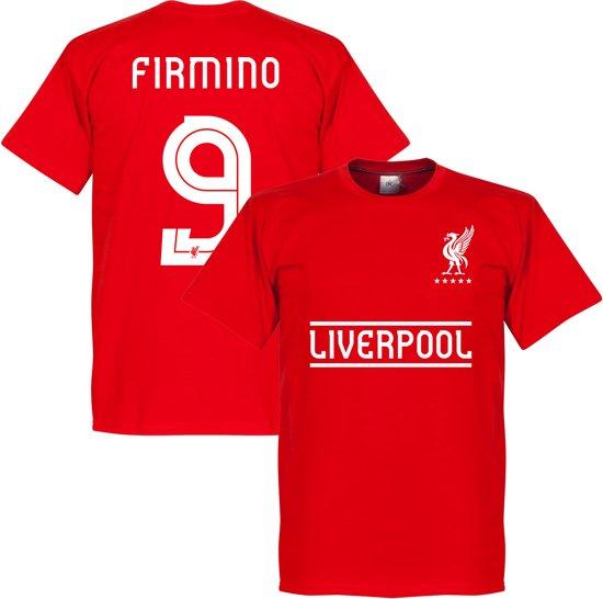 Liverpool Firmino 9 Team T-Shirt - Rood - XS