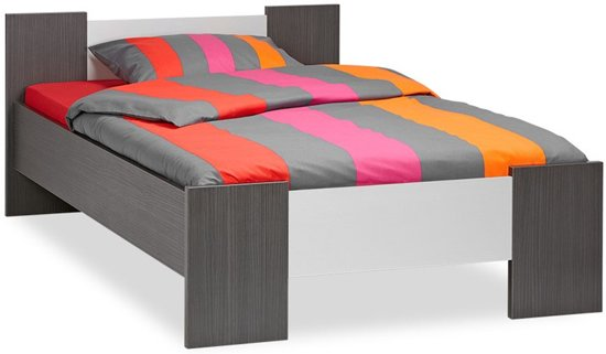 bol beterbed woody bed antraciet 120 x 200 cm