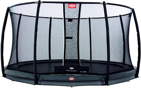 BERG Champion InGround Trampoline - 430 cm - Inclusief Veiligheidsnet Deluxe - Grijs