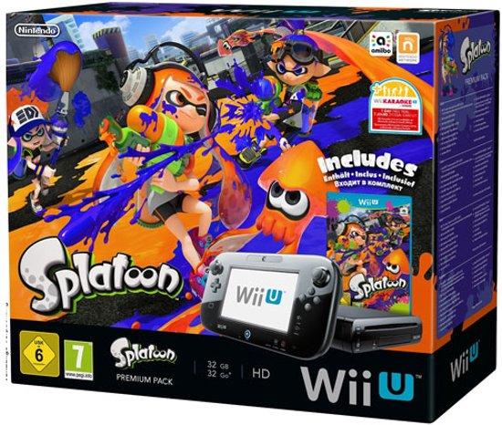 Afbeelding van Nintendo Wii U 32GB Console Premium Bundel Zwart + Splatoon