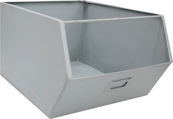 Kidsdepot metalen opbergbak Pure old grey