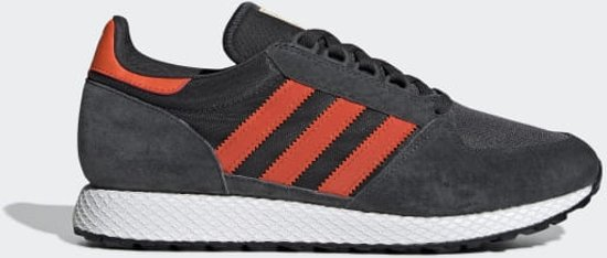 adidas Forest Grove Heren Sneakers - Carbon/Active Orange/Easy Yellow - Maat