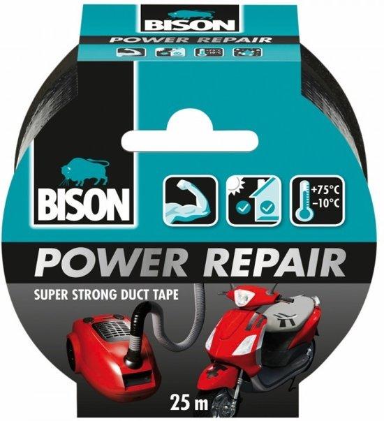 Bison Power Repair Tape Zwart 25 Mtr