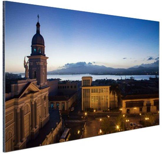 Havana in de avond  Aluminium 60x40 cm - Foto print op Aluminium (metaal wanddecoratie)