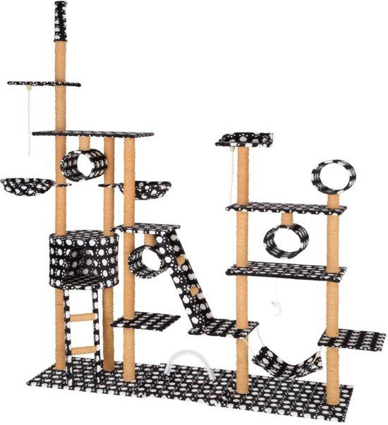 TecTake - XXL Krabpaal silvia zwart wit - 218 x 70 x 234 cm - 402746