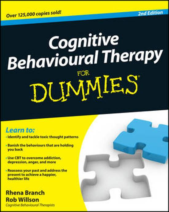 Afbeelding van Cognitive Behavioural Therapy for Dummies 2E
