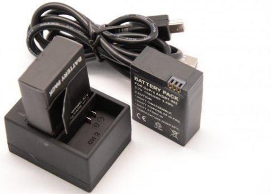 2x Accu / Batterij + Quickcharger GoPro Hero 3 / 3+