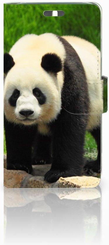 Huawei Y625 Uniek Boekhoesje Panda Met Opbergvakjes in Well L.