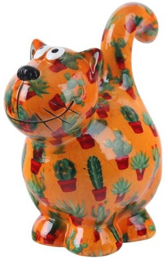 Pomme Pidou spaarpot kat Dorothy - Uitvoering - Oranje met cactussen
