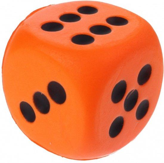Afbeelding van het spel Toi-toys Foam Dobbelsteen 4 Cm Oranje