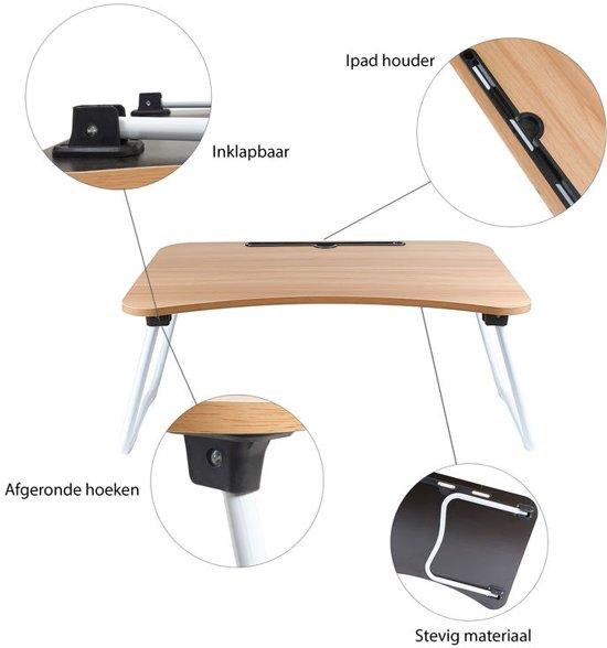 Bedtafel voor laptop, tablet, boek of ontbijt op bed - 36 x 60 x 27 cm