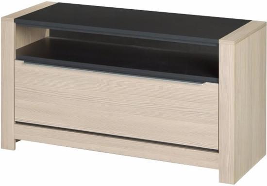 Bol tv meubel husaar licht eiken met zwarte afwerking