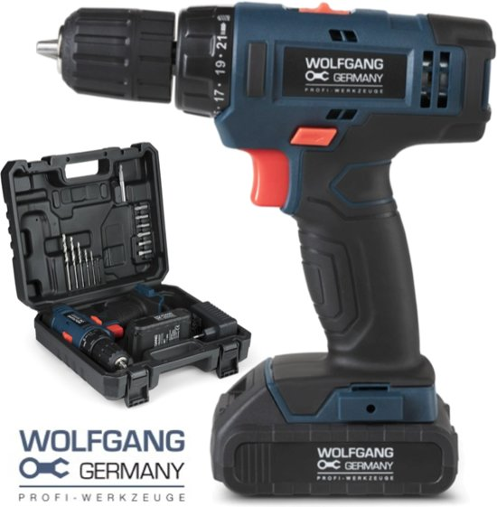 Genoeg bol.com   Wolfgang Accu Schroef en Boormachine - 20 Volt - Incl PL47