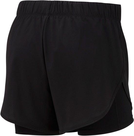 Nike Nk Flx 2In1 Short Woven Dames Sportbroek - Black/Black/(White) - Maat S