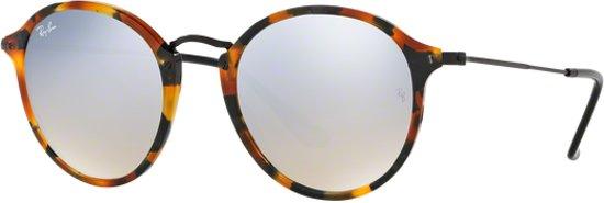 e47c58c7555622 Ray-Ban RB2447 11579U - zonnebril - Round Fleck - Tortoise Zwart - Zilver