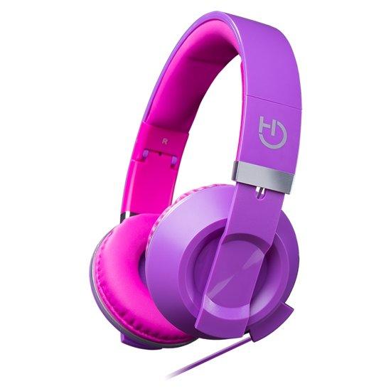 c32835b0012 Hiditec COOL KIDS Hoofdband Stereofonisch Bedraad Roze, Paars mobiele  hoofdtelefoon