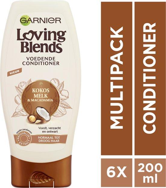 Garnier Loving Blends Kokosmelk & Macadamia Conditioner - 6 x 250 ml - Voordeelverpakking