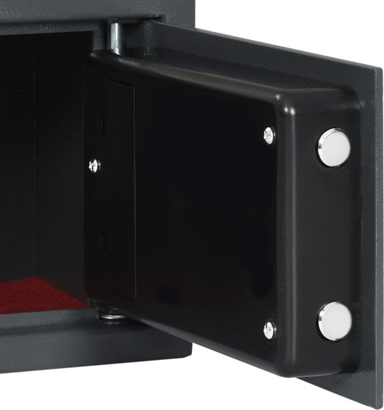 vidaXL Kluis digitaal met vingerafdruk 31x20x20 cm donkergrijs