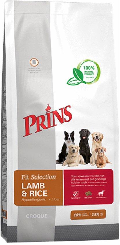 Prins Fit Selection Lam & Rijst - Hondenvoer - 15 kg