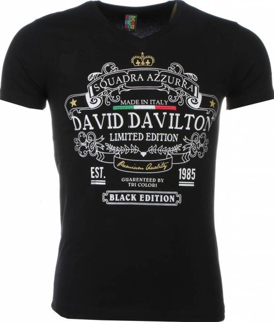 Mascherano T-shirt - Black Edition Print - Zwart - Maat: L
