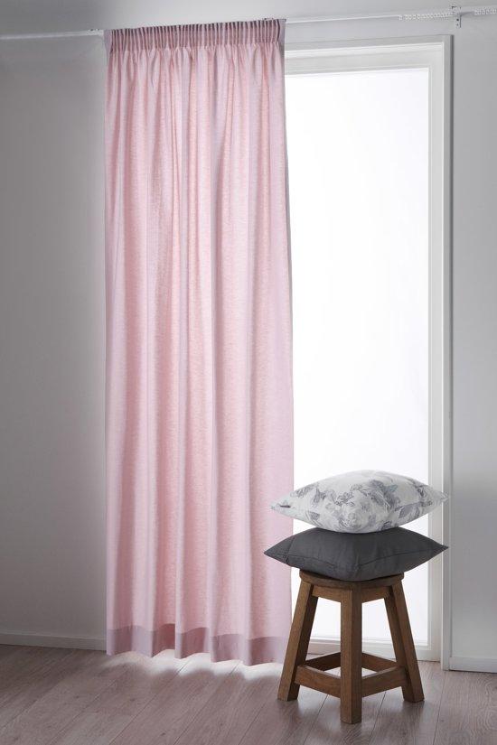 bol.com | Okee! Fam 82 - Kant en klaar gordijn - Zacht roze ...