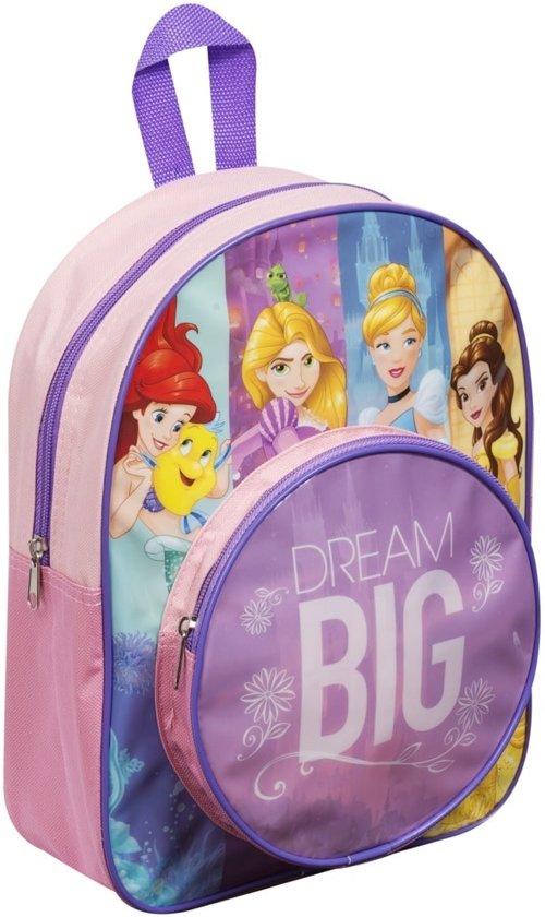 Disney prinsessen rugzak, roze met voorvak