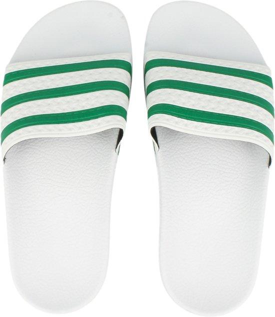 8e06a8f55fc bol.com | adidas Adilette - Slippers - Unisex - Maat 44.5 - Wit/Groen