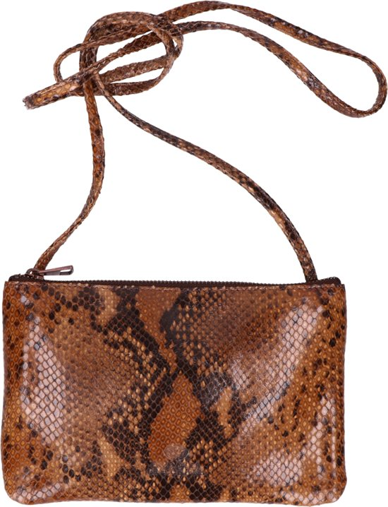 Lizard Printed Brown Bag Leather Crossbody Envelop Fred De La Bretoniere FYWqzwXaf