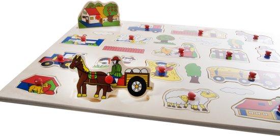 Angel Toys Houten Boerderij Puzzel Groot