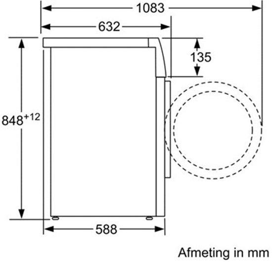 Siemens WM16W542NL - iQ700 - iSensoric - Wasmachine