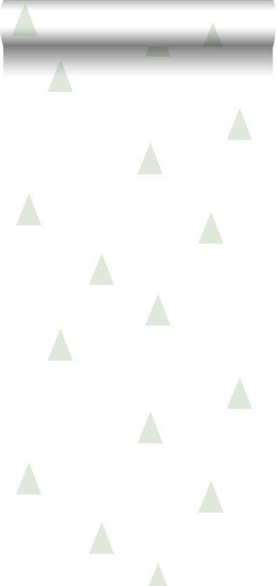 Baby Behang Mintgroen.Bol Com Estahome Behang Grafische Driehoekjes Mintgroen En Wit