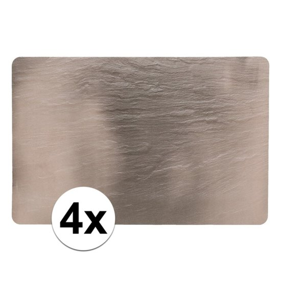 4 placemats leisteen look 44 x 29 cm