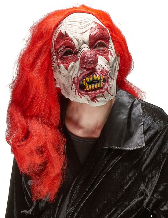 Enge clown latex masker voor volwassenen Halloween  - Verkleedmasker - One size