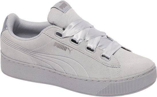 PUMA Vikky Platform Ribbon S Sneakers Dames - Quarry-Quarry
