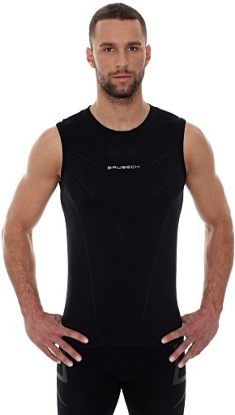 Sportshirt BrubeckHeren Seamless Zwart Maat Athletic SingletHardloopshirt Xl 8nN0vmwO