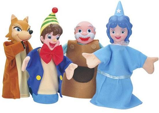 Pinocchio Hand Poppen , poppenkast