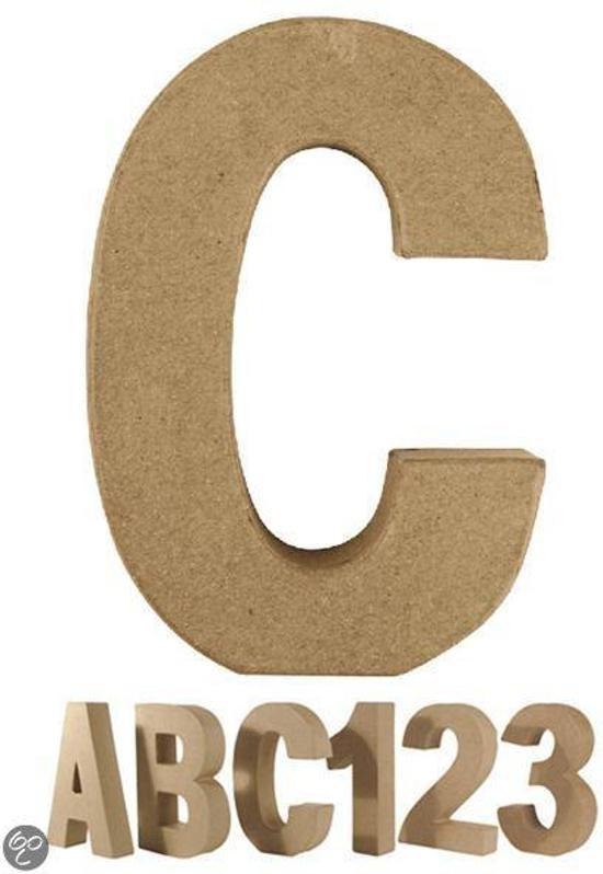 Papier mache letter C