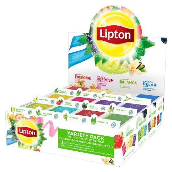 Lipton Feel Good Selection Assortimentsdoos - 12 x 15 theezakjes - Cadeaupakket Valentinaa
