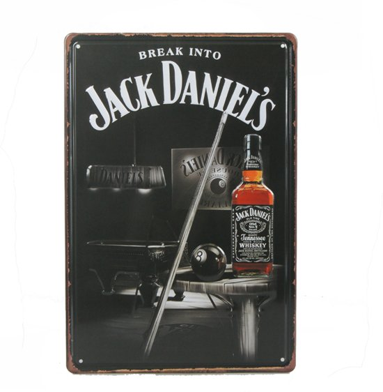 Retro Wandbord Jack Daniels Whiskey Bord Whiskey Liefhebber Mannen Cadeau Vintage Bord Muur Decoratie Metalen Bord Emaille Reclame Bord