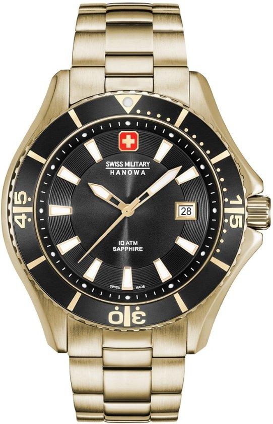 SWISS MILITARY HANOWA Nautila Gents horloge  - Goudkleurig
