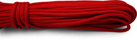 Paracord - Touw - 6 mm - 20 meter - Rood -  Vismagneet touw - Magneetvissen touw-  400 kg trekkracht