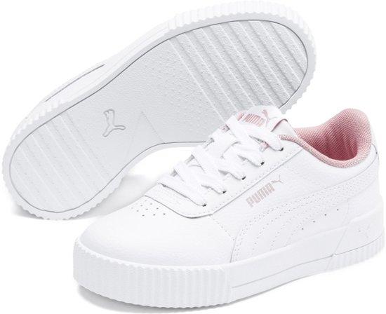 PUMA Carina L PS Sneakers Kinderen Puma White Puma White Maat 33