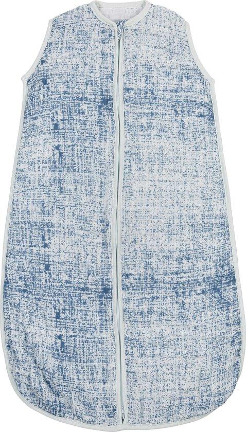 Meyco hydrofiel slaapzak Fine lines - 90cm - jeans/lichtblauw