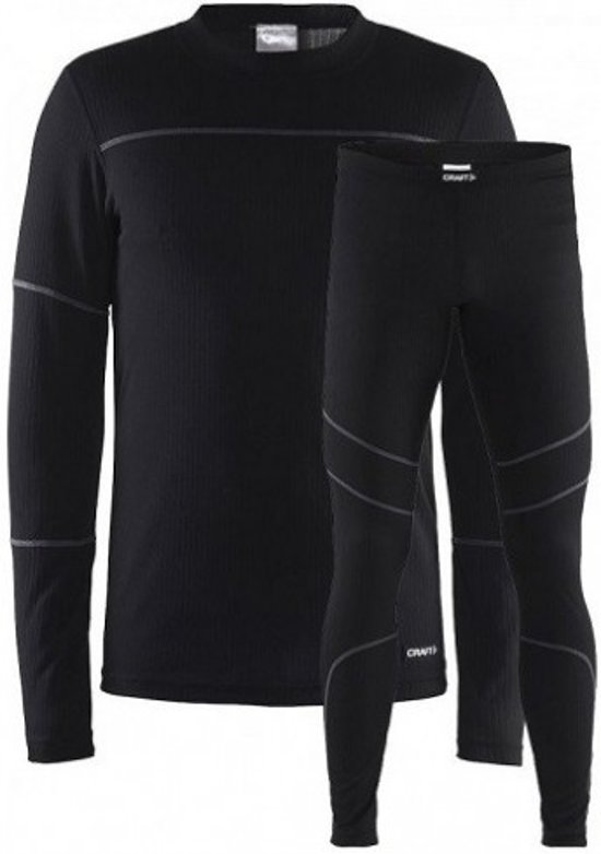 Craft Baselayer Set M 1905332 - Sportkledingset - Black/Granite - Heren - Maat XXL